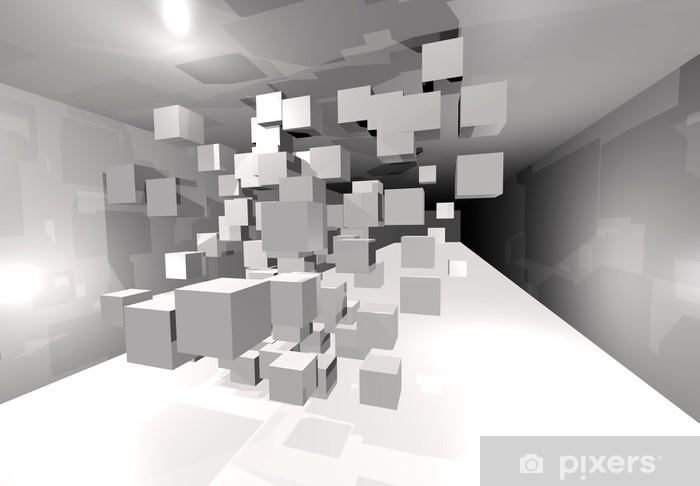 Fototapeta samoprzylepna 3D kostki w tunelu - Abstrakcja