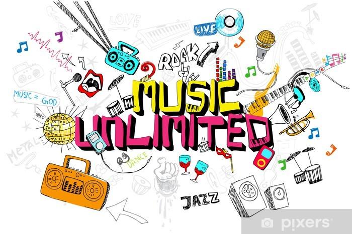 Pixerstick Dekor Music Unlimited - Hio hop