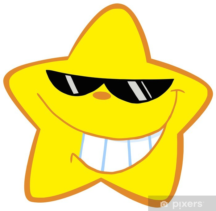 Happy Little Star With Sunglasses Poster - Outer Space