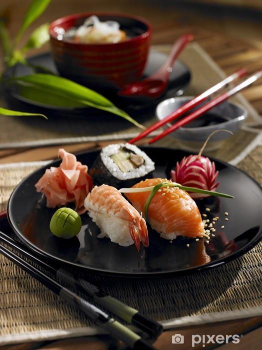 Papier peint vinyle Cuisine orientale - Sushi