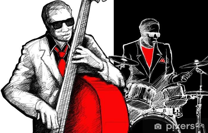 jazz band Pixerstick Sticker - Jazz