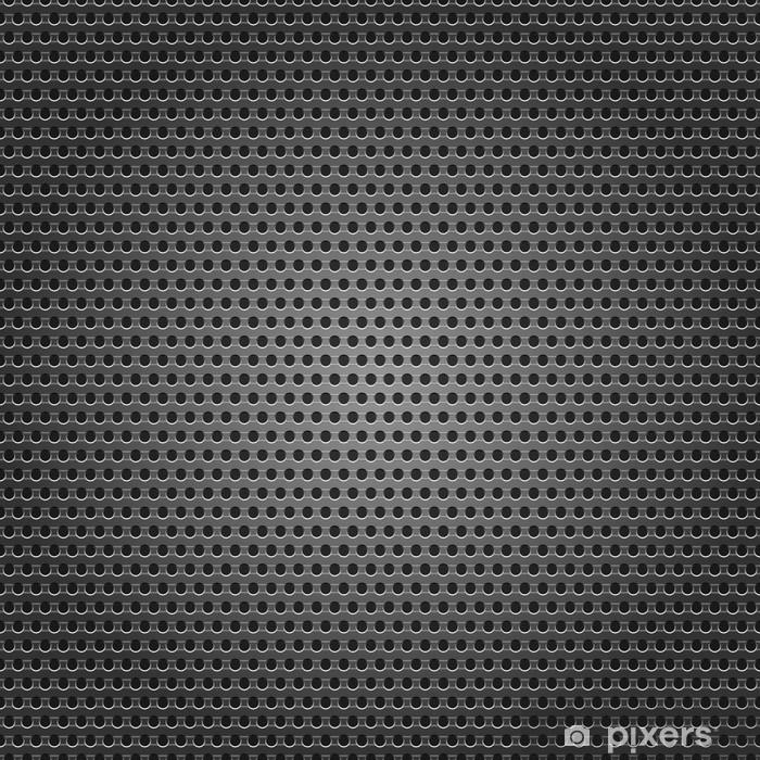 Vinyl Fotobehang Naadloze chroom metalen oppervlak, achtergrond geperforeerde plaat - Achtergrond