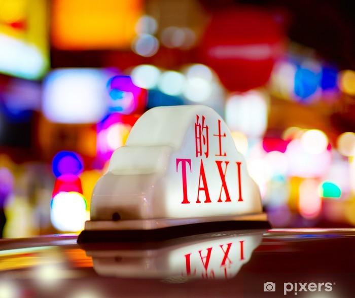 Poster Hong Kong Nacht Taxi - Asiatische Städte