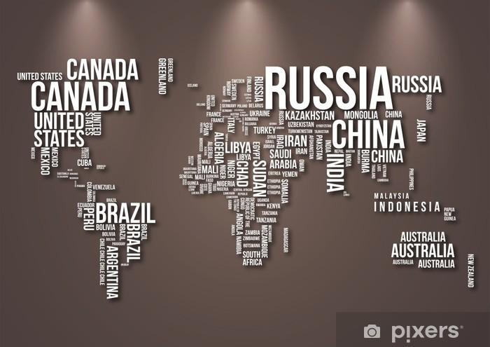 Carta Da Parati Per Camera Ragazzi : Carta da parati world map u pixers viviamo per il cambiamento