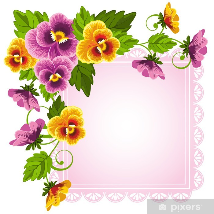 Pansy Vinyl Wall Mural - Backgrounds