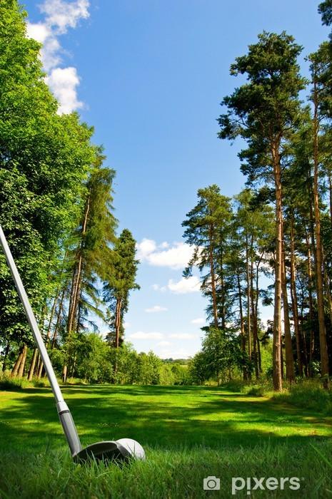 hitting golf ball on fairway Pixerstick Sticker - Golf