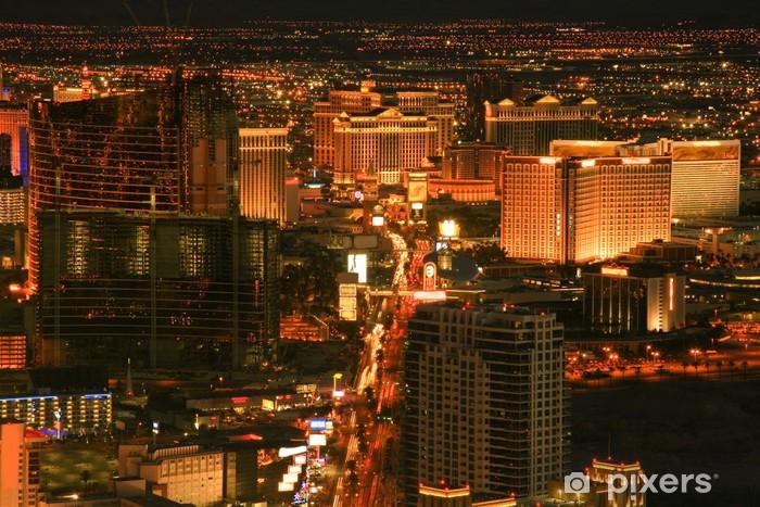 City at night Pixerstick Sticker - Las Vegas