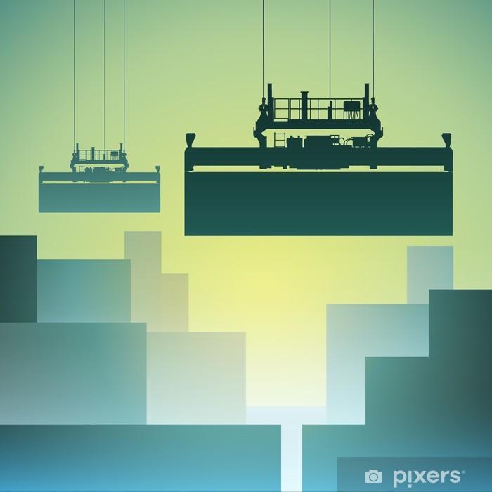 Poster Trasporto contenitori - In viaggio