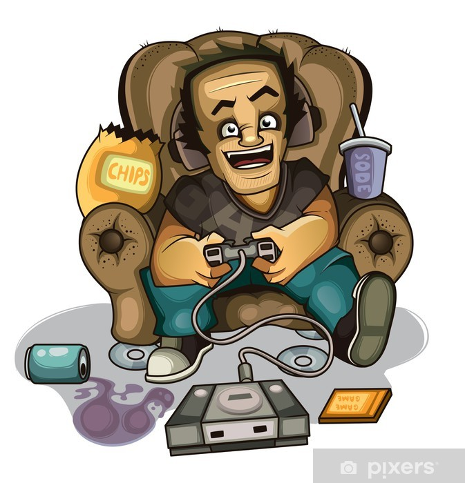 Gamers in the chair Vinyl Wall Mural - Games