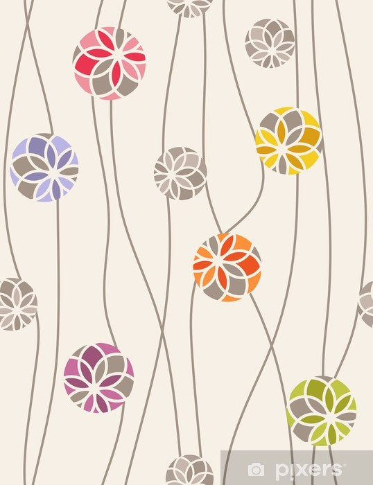 Colorful floral medallions. Seamless vector pattern Vinyl Wall Mural - Backgrounds