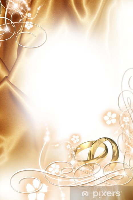 Wedding Background Golden Wedding Wall Mural Pixers