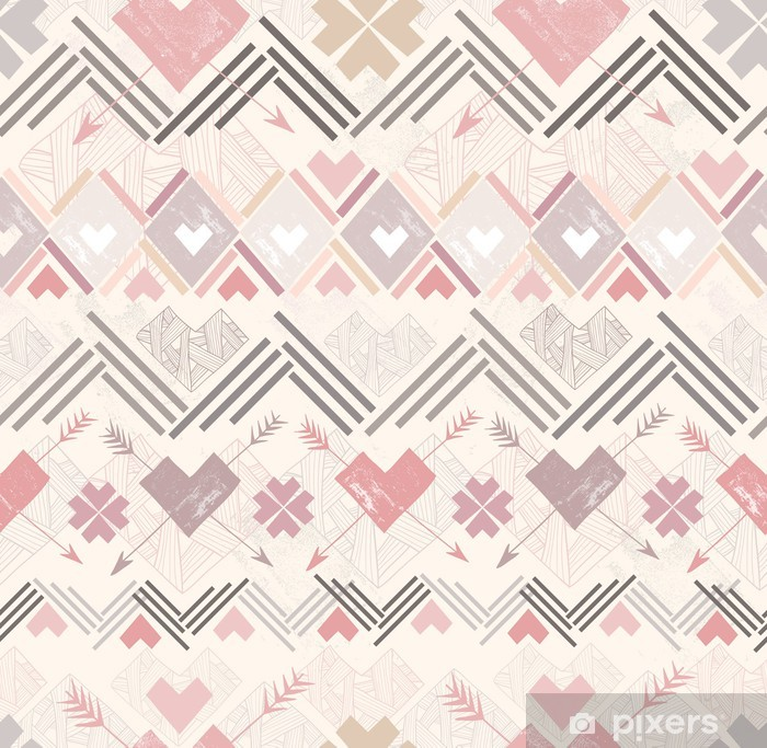 Papier peint vinyle Géométrique abstraite sans soudure. Motif de style aztèque avec lui - Styles