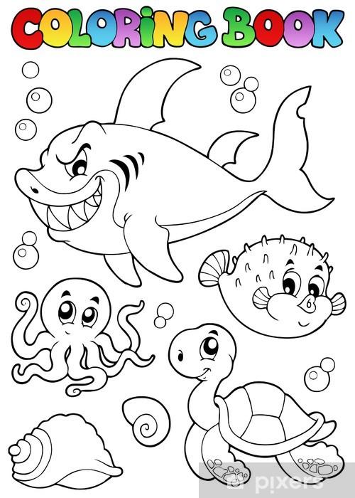 Boyama Kitabi Cesitli Deniz Hayvanlari 1 Duvar Resmi Pixers