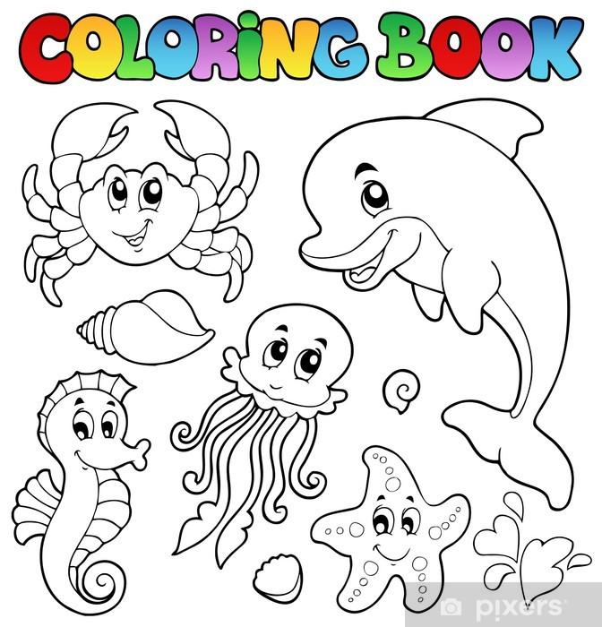 Papier Peint Coloriage Animaux Divers 2 Livres De Mer Pixers