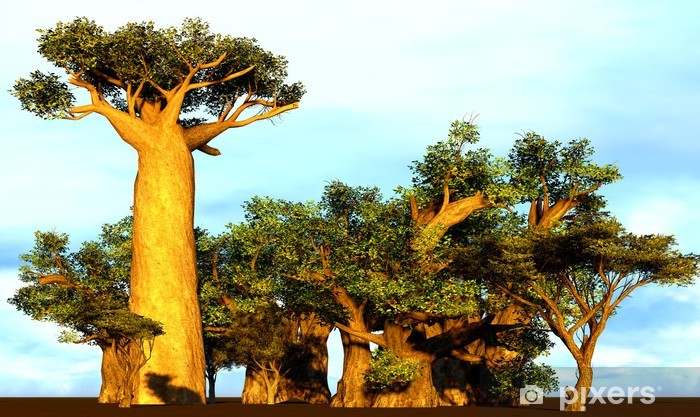 Sticker Pixerstick Baobabs africains - Thèmes