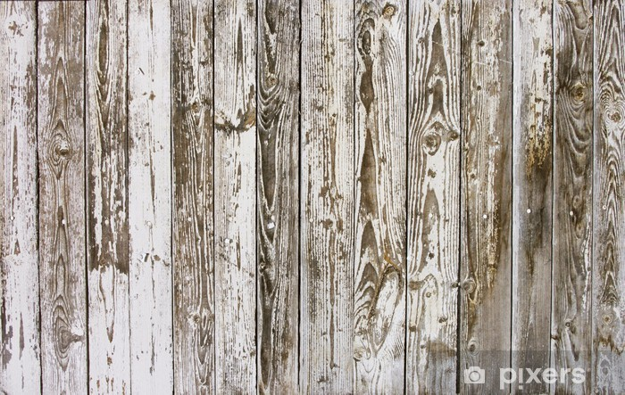 Boards With Peeling Paint, Wood Texture Background Wall Mural   Vinyl