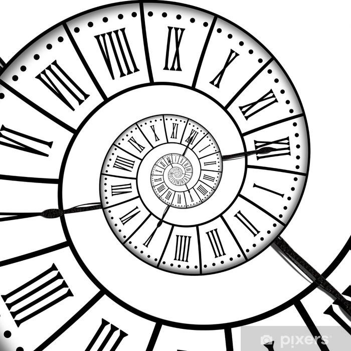 Horloge ancienne, spirale Pixerstick Sticker - Clocks