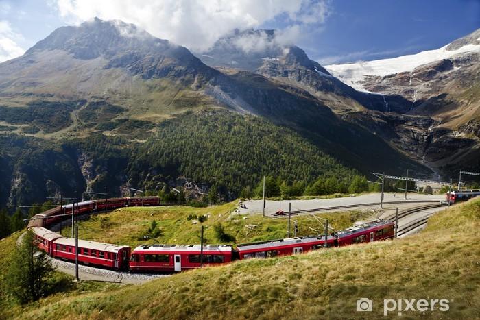 Naklejka Pixerstick Szwajcaria kolejowe - Pociągi i lokomotywy