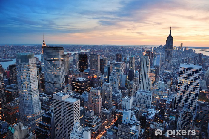 Fotomural Estándar New York City puesta del sol - Estilos