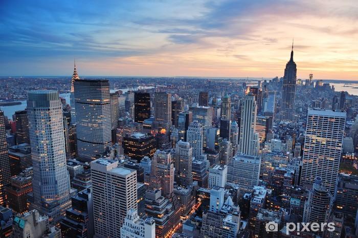 Naklejka Pixerstick Zachód słońca w Nowym Jorku - Style