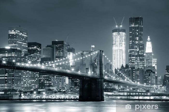 Afwasbaar Fotobehang New York Brooklyn Bridge -