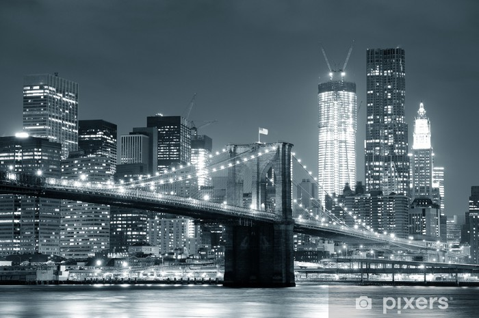 Vinyl-Fototapete New York City, Brooklyn Bridge -