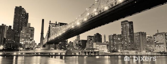 Vinyl Fotobehang New York nacht panorama - iStaging