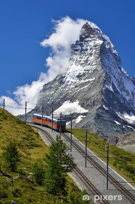 Fototapeta winylowa Matterhorn kolejowa z Zermatt do Gornergrat. Szwajcaria - Europa