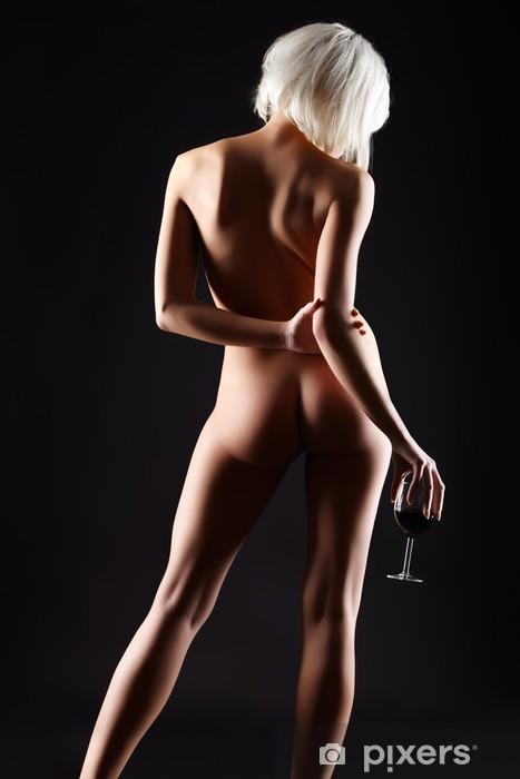 Fototapeta winylowa Naga kobieta i wino - Tematy