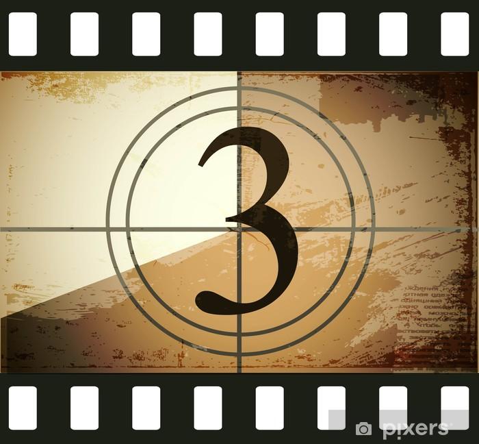 Naklejka Pixerstick Grunge film countdown - Tematy