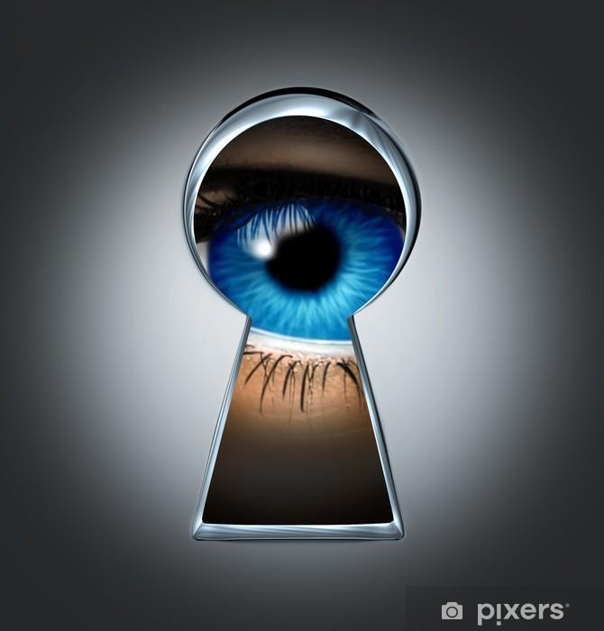 Naklejka Pixerstick Oko patrząc przez dziurkę od klucza - Sprawiedliwość