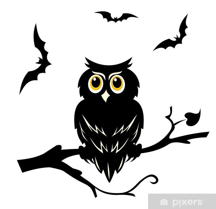 Sticker Halloween Hibou Pixerstick