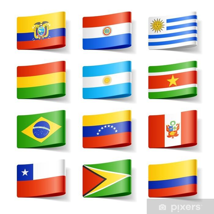 Fotomural Estándar Indicadores del mundo. América del Sur. - América