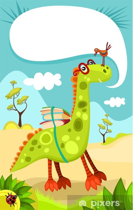 dino Pixerstick Sticker - Imaginary Animals
