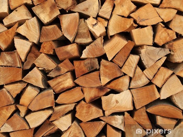 Holzscheite als Brennholz übereinander gestapelt Pixerstick Sticker - iStaging