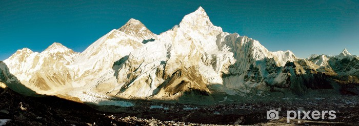 evening view of Everest and Nuptse from Kala Patthar Pixerstick Sticker - Themes