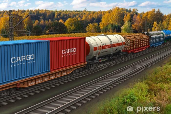 Papier peint vinyle Train marchandise - Thèmes