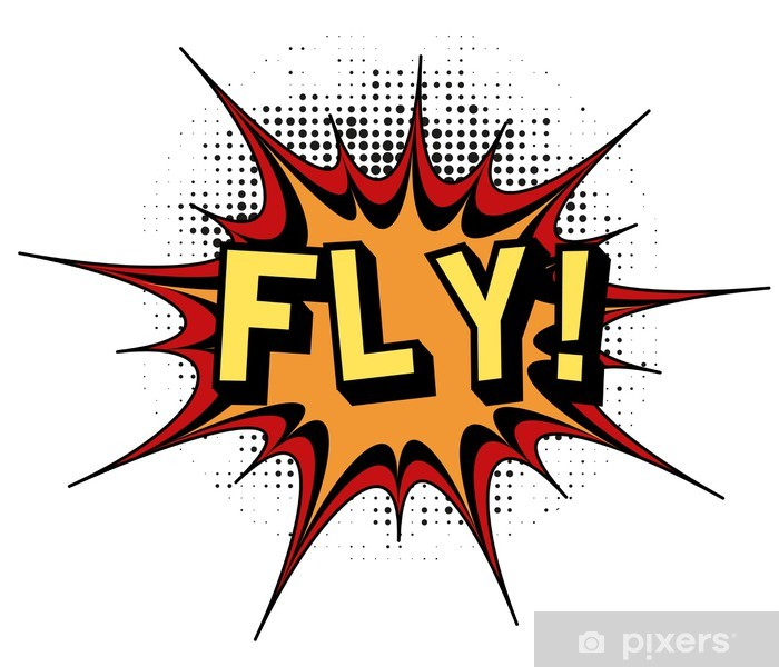 Poster Fly.Comic Buch Explosion. - Texturen