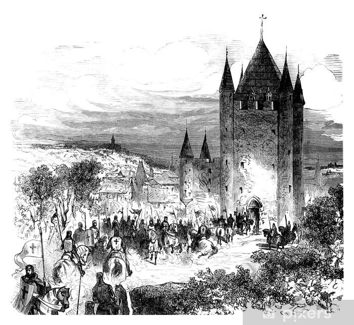 Naklejka Pixerstick Templariusze - Templar - Rycerze