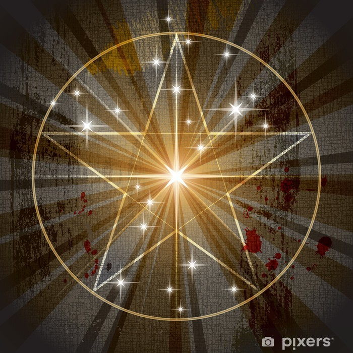 Naklejka Pixerstick Starożytna Mystic Pentagram - Ezoteryka