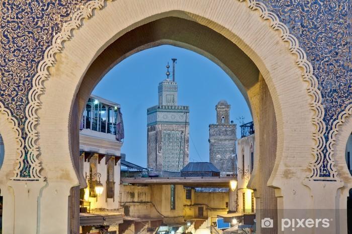 Vinilo para Nevera Bab Bou Jeloud puerta en Fez, Marruecos - África