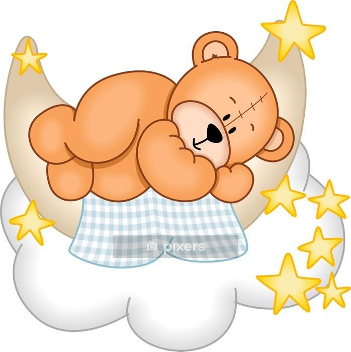 Sticker mural Sweet Dreams Teddy Bear - Sticker mural