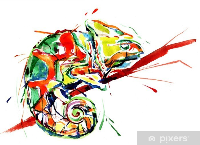 Fototapeta winylowa Kameleon - Nauka i natura