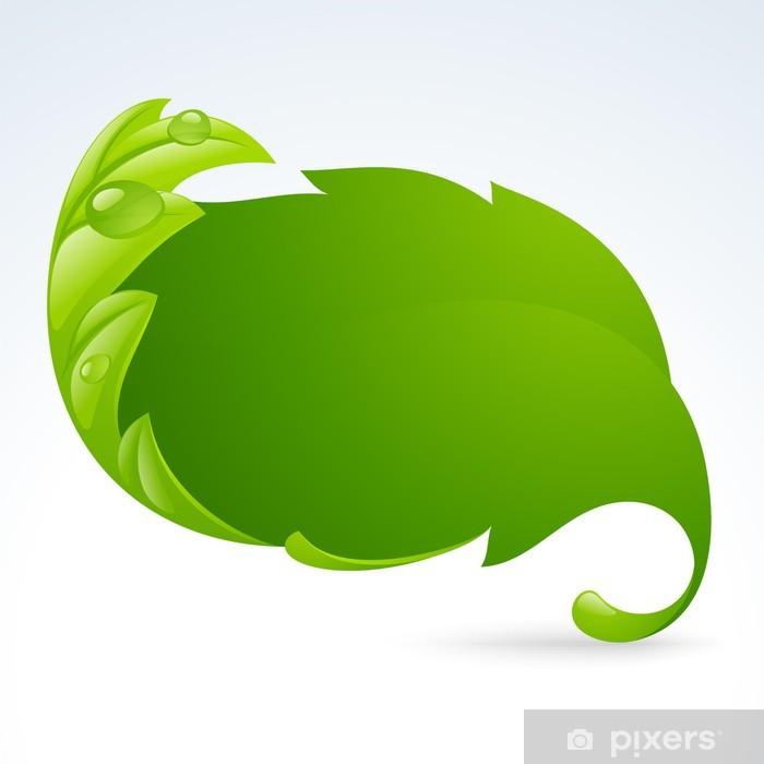 Plakat Wektor zielony liść ramki, tła wiosna - Pory roku