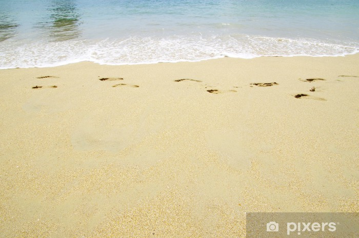 Fototapeta winylowa Ślady na piasku - Cuda natury