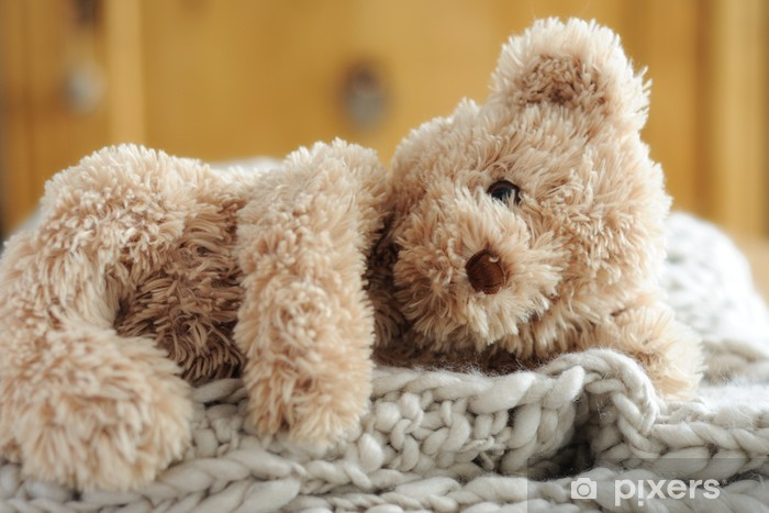 Naklejka Pixerstick Teddy leżący - Gry