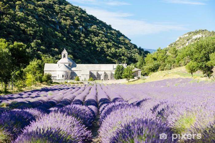 Nálepka Pixerstick Senanque opatství s levandulí pole, Provence, France - Témata