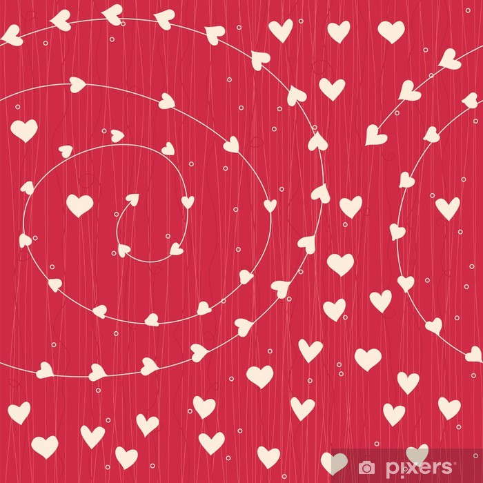 Papier peint vinyle Coeurs sans soudure - Bonheur