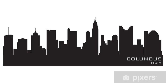 Fototapeta winylowa Columbus, Ohio skyline. szczegółowe sylwetka wektor - Ameryka
