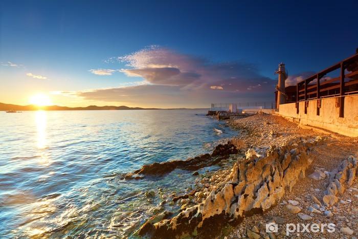 Naklejka Pixerstick Latarnia morska w Zadarze - Latarnia morska
